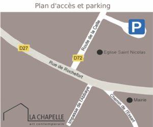 Plan d'accès et parking La Chapelle à Clairefontaine