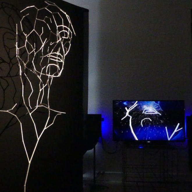Isabelle Fauve-Piot et Charles-Edouard Platel :  Presque rien - Presque tout . Installation à La Chapelle, Clairefontaine en Yvelines