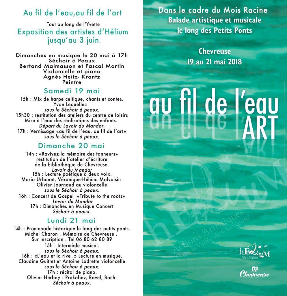 Affiche expo au fil de l'eau au fil de l'art