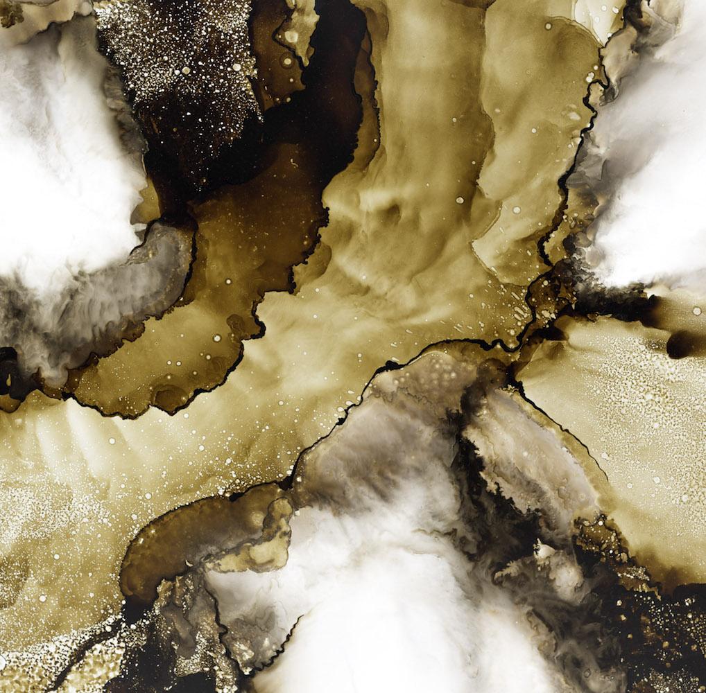"""DELORNOIR - """"Convergence"""" - Bitume sur dibond - 80 x 100 cm - Ref17007"""